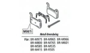 Bremsbeläge Disc M07Ti XTR / XT / LX (organic) Resin